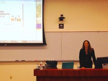 Melissa teaching Trademark Law at Pepperdine School of Law